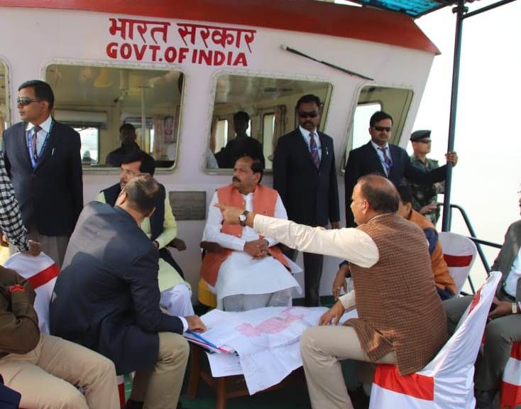 CM reviews bridge and port construction work on river Ganga in Sahebganj