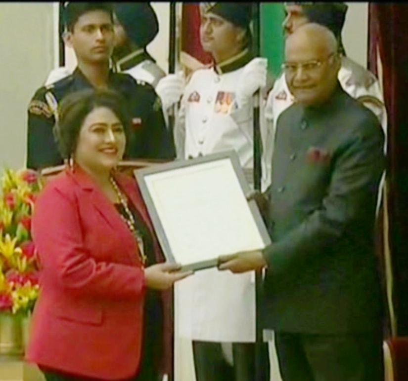 Dr-Bharti-Kashyap-the-highest-civilian-award-for-women-of-India-was-awarded-Nari-Shakti-Samman