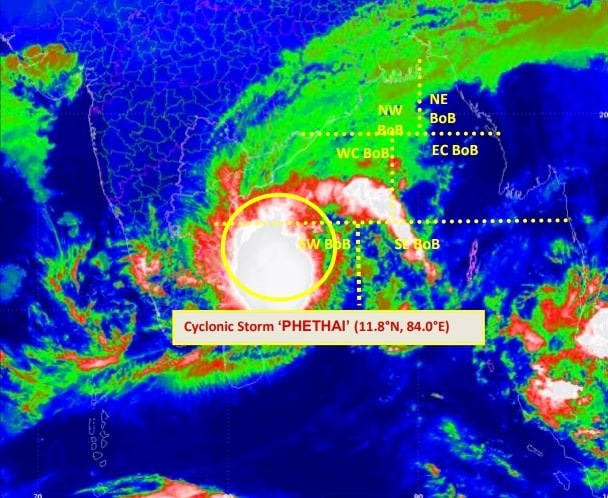 Cyclonic Storm 'PHETHAI' intensifies cold weather all across Jharkhand