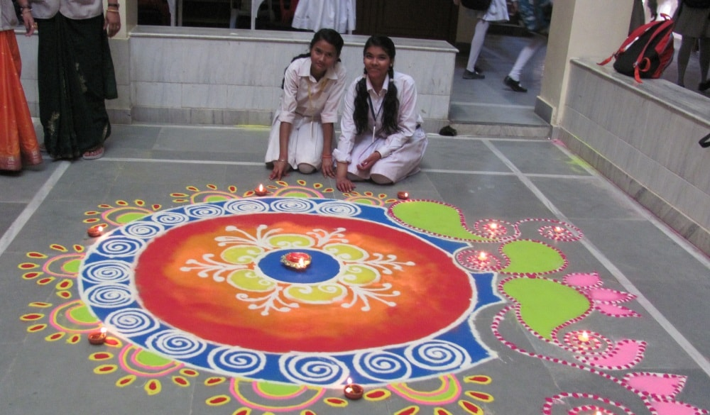Inter-house Rangoli competition mark Diwali celebration at OPS, Ranchi