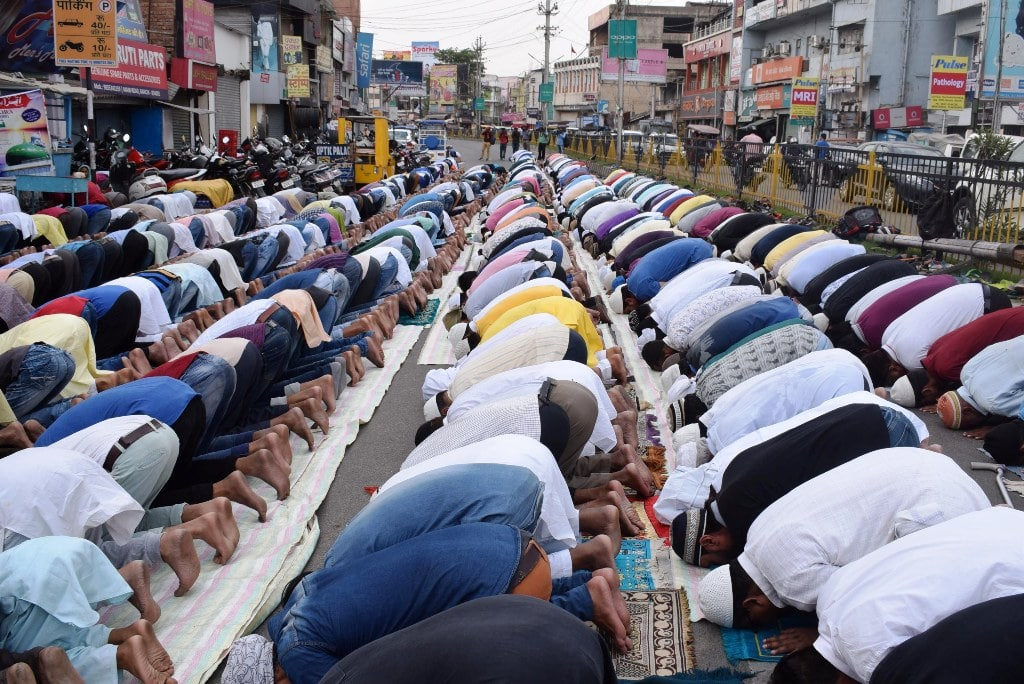 "<p>Muslims offer first Friday Namaz during the holy month of ""Ramadan"" in Ranchi on Friday.</p>"