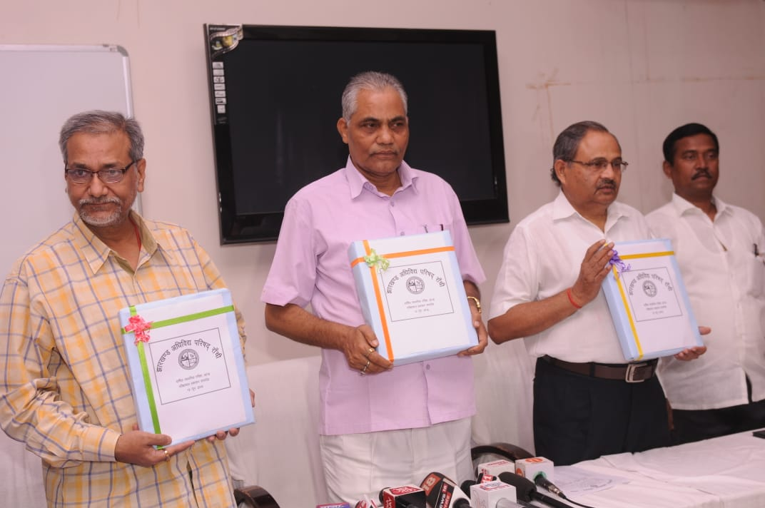 <p>JAC Officials during the declaration on JAC results in Ranchi on Tuesday.</p>