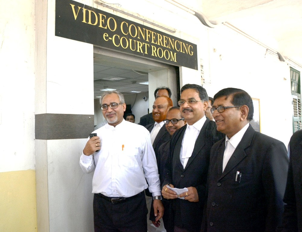 <p>Special CBI court Judge Shiv Pal Singh (Forefront_L) comes out of video conferencing e- Courtroom after pronouncing the quantum of punishment in the fourth Dumka fodder scam casein…