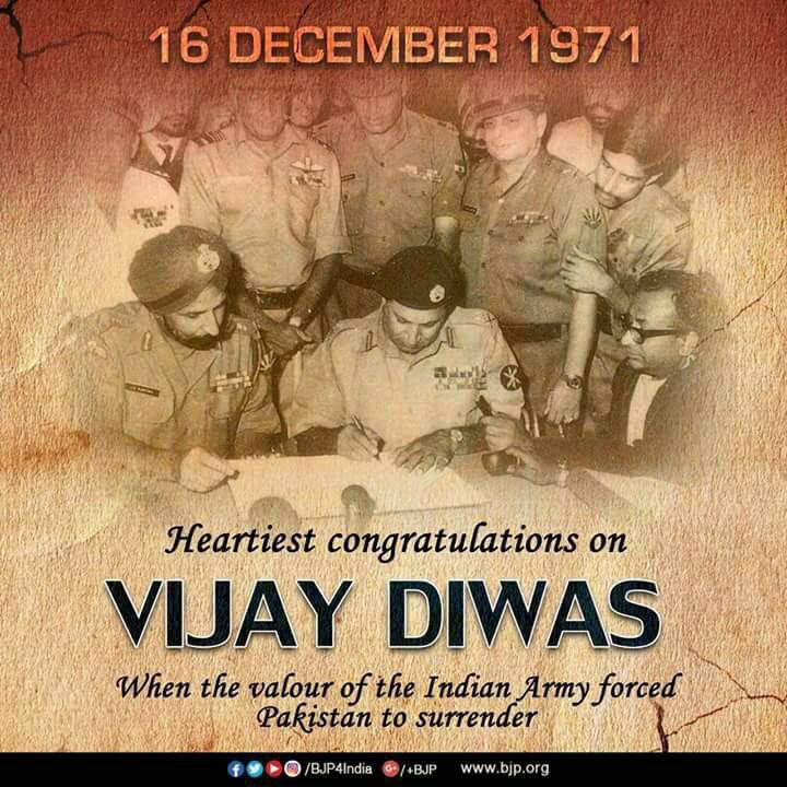 <p>Heartiest congratulations on Vijay Diwas</p>