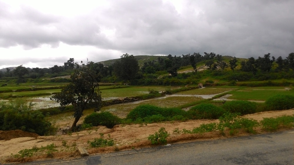 <p>Picturesque countryside on a rainy day as seen from Khunti-Tamar road.</p>