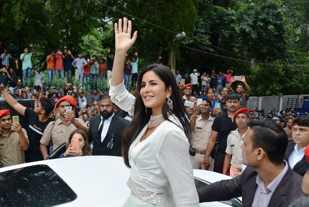 <p>Actress Katrina Kaif during the inaugural ceremony of a jewelry shop in Ranchi on Sunday.</p>