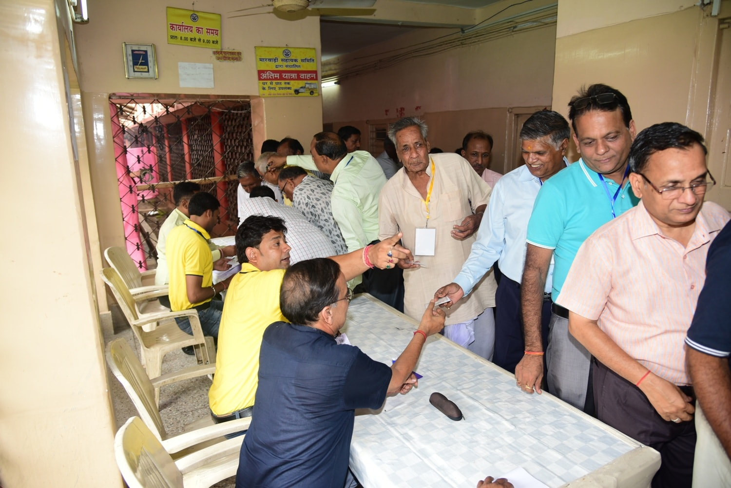 <p>Marwaris took part in Jharkhand Prantya Marwari Sangh Election on the Guru Purnima Day,Sunday</p>