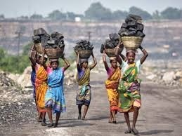 <p>Ekking out living by picking up and carrying a pack of coal on head to sell&nbsp;it in local bazar in Giridih are Adivasi and Dalit women in Ramgarh.</p>