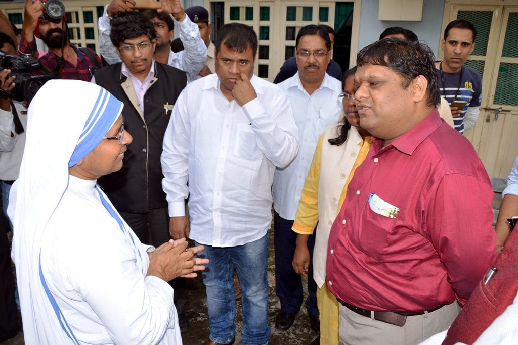 <p>Member of National Commission for Protection of Child Rights (NCPCR), Priyank Kanoongo along with SCPCR Chairperson Arti Kujur and members visits the Missionaries of Charity-run…