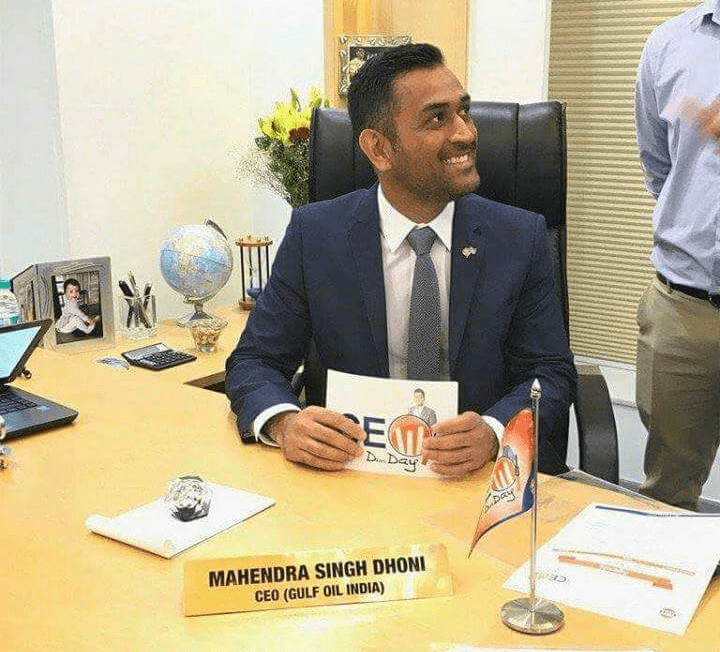 <p>MS Dhoni has picked up a new profession by accepting to lead Gulf Oil India,a company,as it&#39;s CEO.</p>