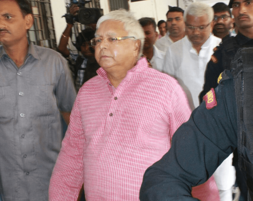 <p>Lalu Yadav who appeared in the Special CBI Court in fodder scam case in Ranchi this morning when his family members including son Tejaswini and Rabri screamed against Nitish Kumar…