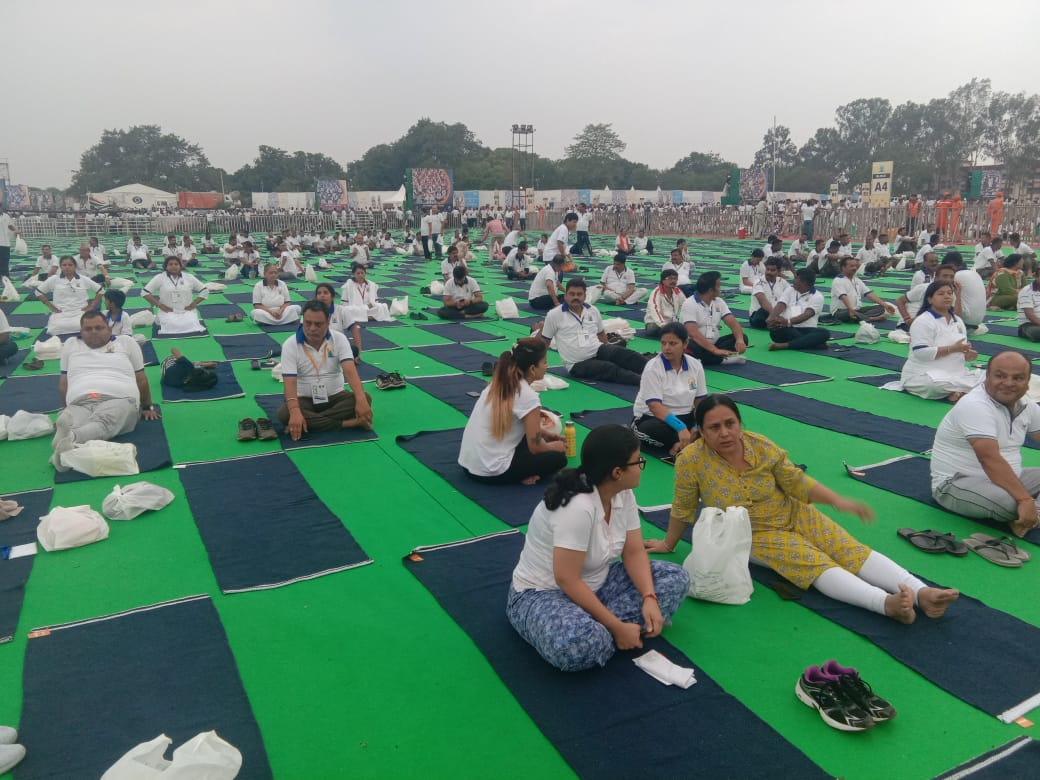 <p>In order to participate in the 5th International Yoga Day, people started reaching Prabhat Tara Ground main event venue from morning 3:00 am onwards on Friday 21st June 2019. Approximately…