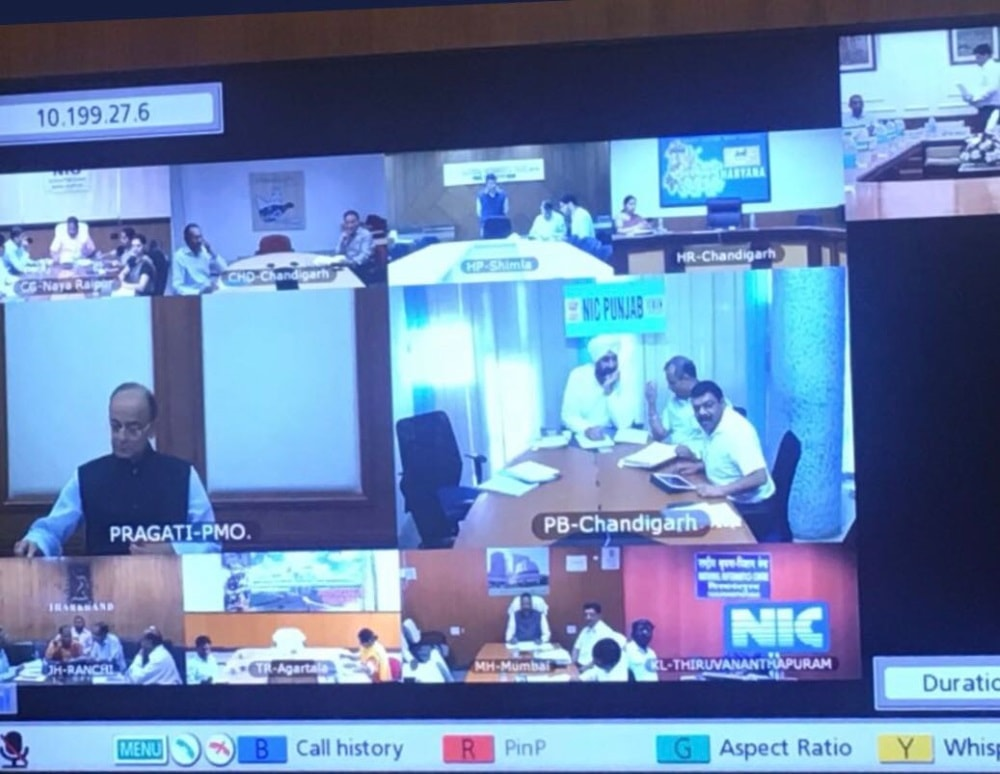 <p>Finance Minister Arun Jaitley chairs 27th #GSTCouncil meeting in New Delhi through video conferencing</p>