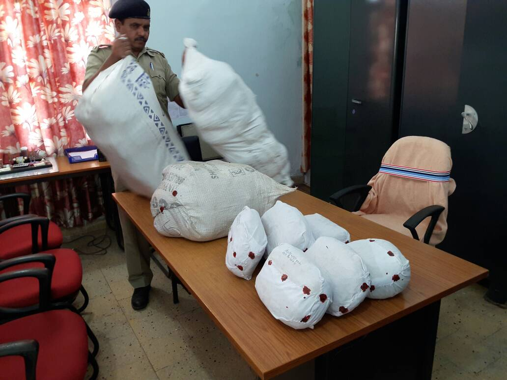 <p>Nearly 60 kgs of Marijuana(Ganja)were recovered from a Bolero car near Thethainagar in Simdega and 3 persons arrested by the police.The Ganja was coming from Orissa and going to&#8230;
