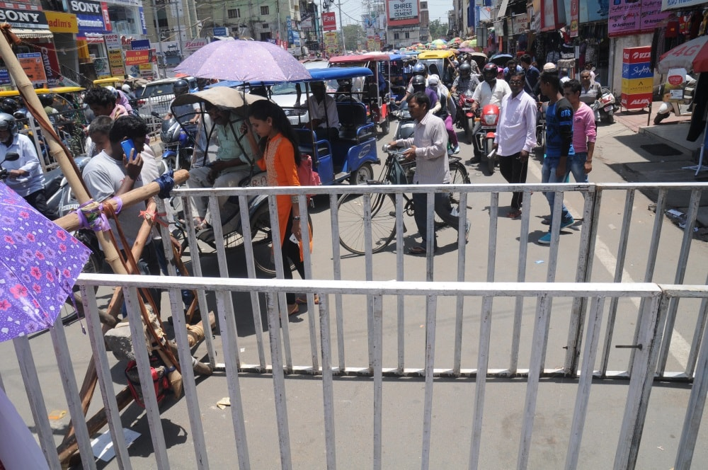 <p>The police call it bracketing.Their aim is to prevent people enter into the designated road.This is a feature common to all towns in Jharkhand.Each time it is put up by the police,it…