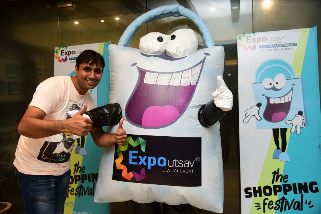 <p>Mascot of Expo Utsav 2017 rocking in business community in Jharkhand capital - Ranchi</p>
