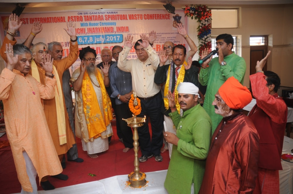 <p>First International Austro Tantra Spiritual Vastu Conference with honor ceremony at Ranchi Jharkhand on Thursday.</p>