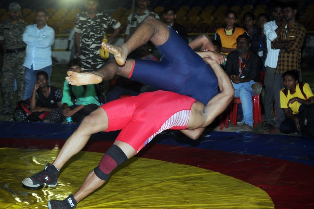 <p>Final matches of various sporting events like Kabaddi, Wrestling etc under the &#39;Khelo Bharat&#39; event was held at Mohrabadi ground in Ranchi today.</p>