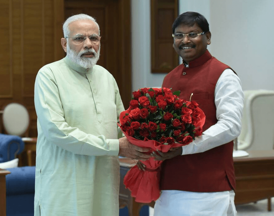 <p>Jharkhand ex CM Arjun Munda met Prime Minister Narendra Modi inside his official residence in New Delhi.Though the outcome of their meeting is not known,they together with BJP President&#8230;