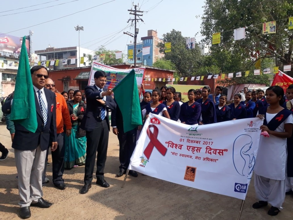 <p>On the occasion of World&nbsp;AIDS Day, Deoghar DC Rahul Kumar Sinha flagged off a AIDS awareness and prevention rally from the premise of old Sadar Hopital on Friday.</p>