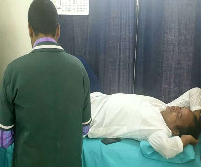 <p>Congress MLA Irfan Ansari survived in a road accident Tuesday. While he was walking near his official residence in Dhurva(Ranchi) this morning,one two-wheeler hit him and he suffered…