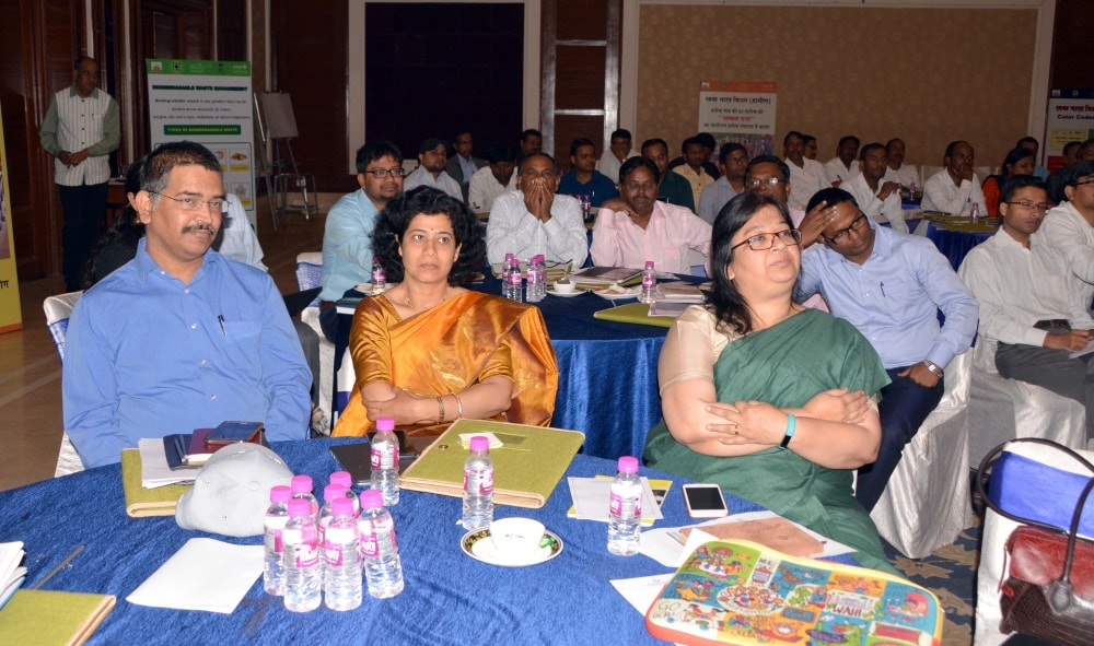 <p>Secretary Drinking Water and Sanitation, Aradhana Patnaik along with Chief UNICEF (Jharkhand) Madhulika Jonathan and others during the workshop on ODF Sustainability at a city based…