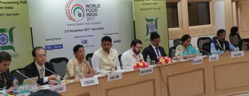 <p>Agriculture Minister Ranveer Kumar Singh said that Jharkhand has huge potential in field of Food processing during World Food India Summit being held at New Delhi.</p>