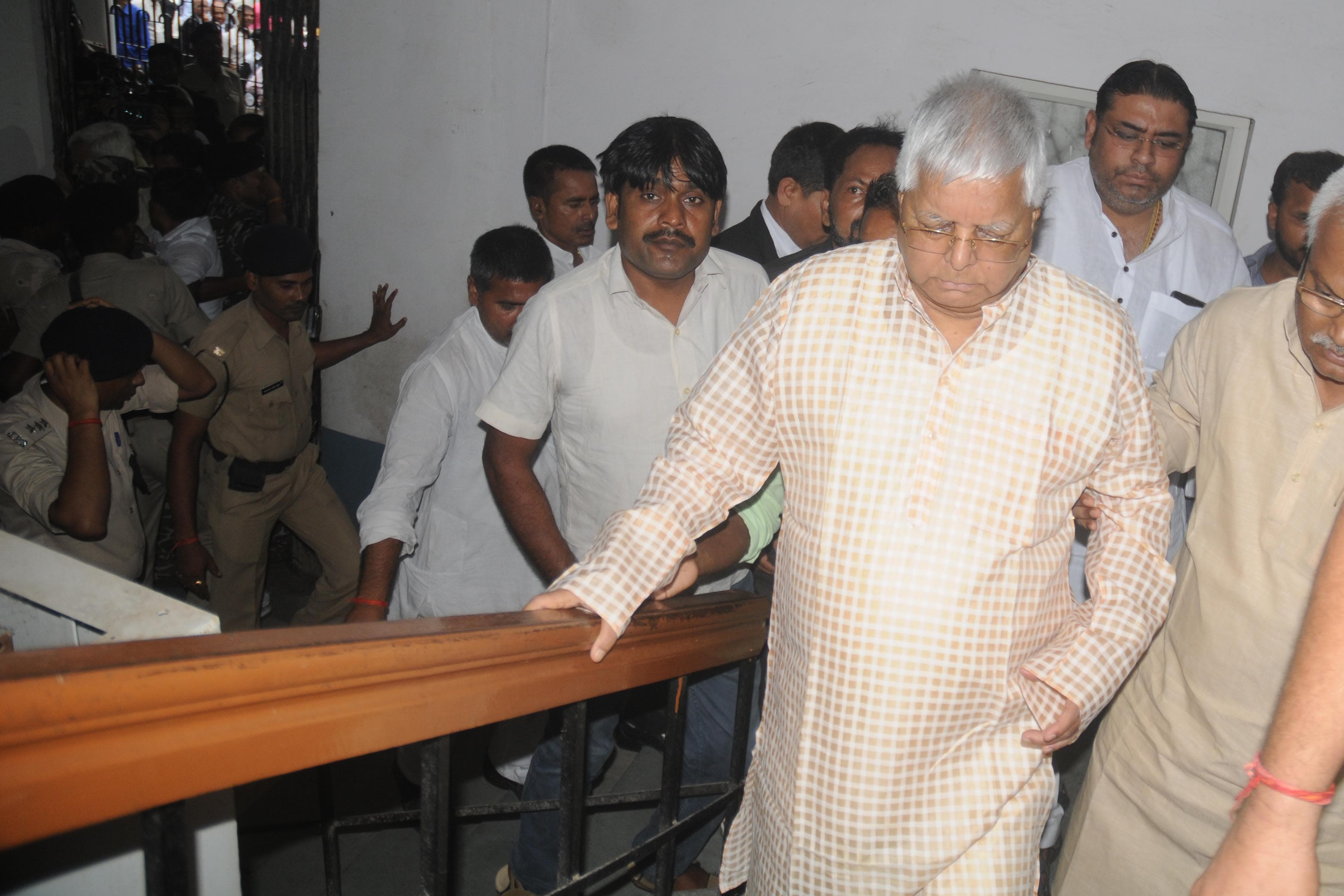 <p>Rashtriya Janta Dal (RJD) leader and former Bihar Chief Minister Lalu Prasad Yadav leave Special CBI court in Ranchi on Thursday, August 30, 2018. Lalu has been convicted in four…