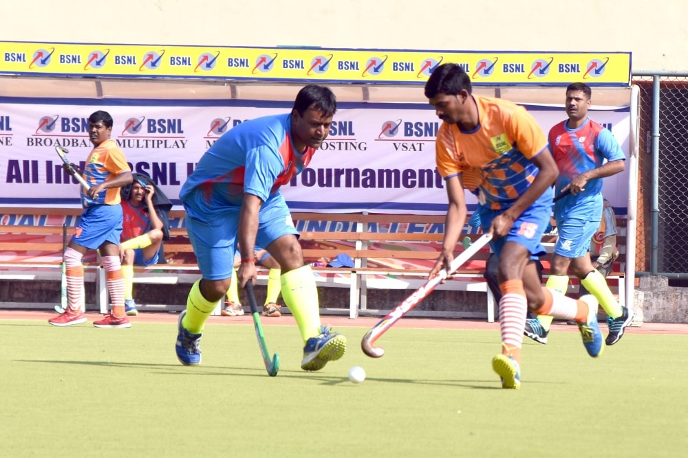 <p>Players of Karnataka and Odisha in action during the inaugural ceremony of 17th All India Hockey Tournament -2017 at Astroturf Hockey stadium in Ranchi on Wednesday</p>…