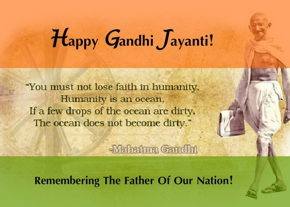 <p>www.jharkhandstatenews.com wishes a Happy Gandhi Jayanti to all.</p>