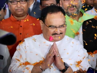 <p>When BJP President J.P.Nadda arrived in Ranchi,party workers and leaders welcomed him at the Birsa Munda airport.Nadda has come to the state capital to hold meetings with party…