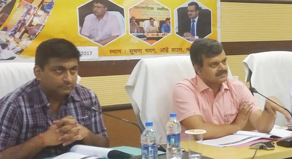 <p>Sunil Kumar Barnwal,Secretary to CM, and RL Bakshi,Director,Information and Public Relations Department presided over meeting with officials and people under the state government&#39;s&#8230;