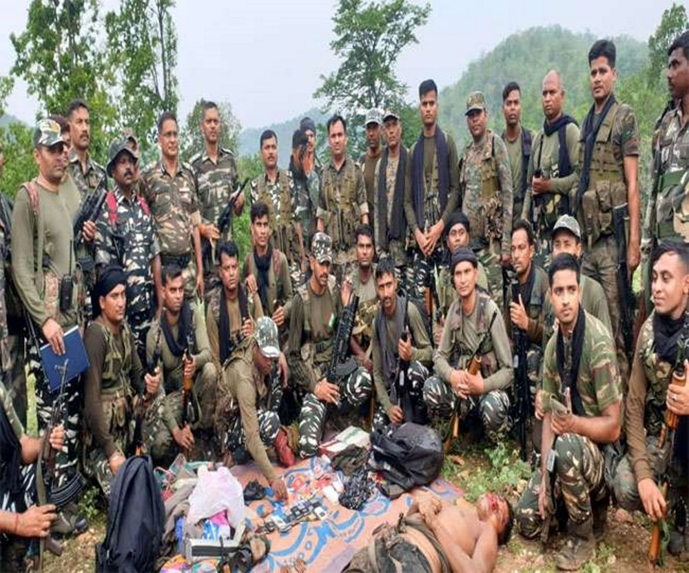 <p>Body of a Naxal recovered following an encounter with 94 Battalion Central Reserve Police Force (CRPF) & state police in Urmu village in Bano block of Simdega today. 1 AK-47…