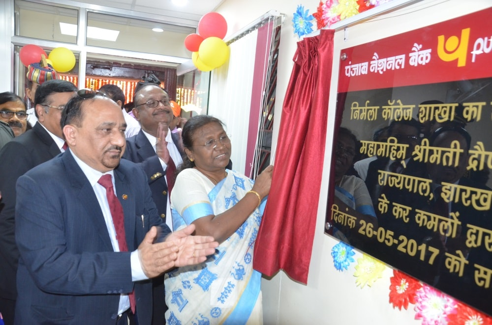 <p>Ranchi based Nirmala college has acquired a branch of the Punjab National Bank.The branch was inaugurated by Governor Draupadi Murmu in presence of the PNB officials.</p>
