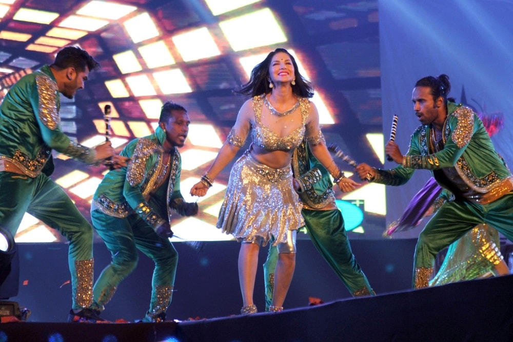 <p>Bollywood actress Sunny Leone performing during Mr. and Miss Attitude East Zone 2017 at Morhabadi ground in Ranchi on Saturday</p>