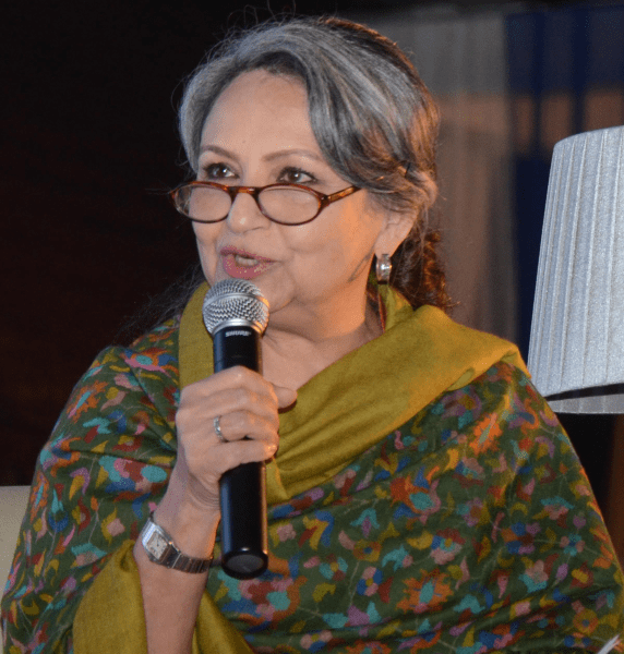 <p>Veteran actress Sharmila Tagore &nbsp;speaks at the Jharkhand Literary meet at a city based hotel in Ranchi on Saturday.</p>