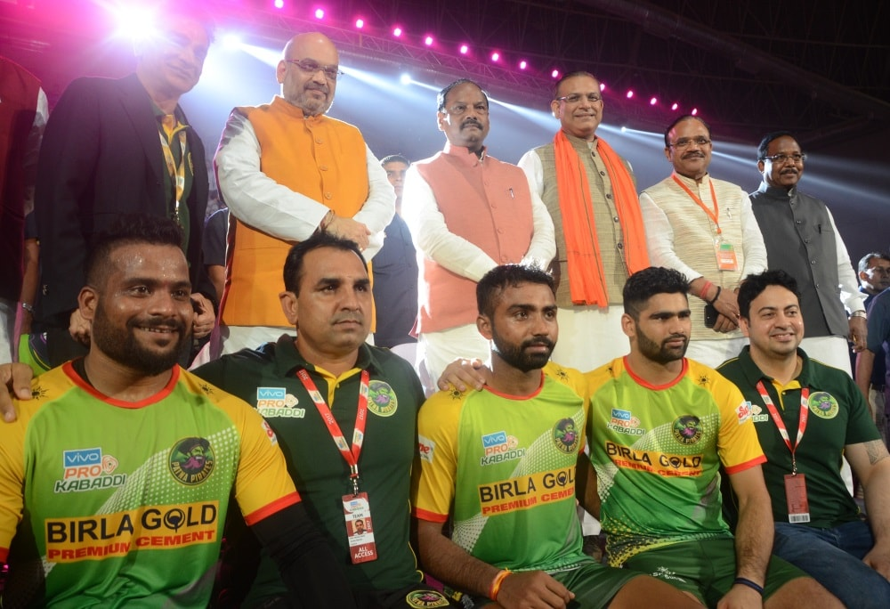 <p>BJP National President Amit Shah along with Jharkhand Chief Minister Raghubar Das went to watch Pro Kabbadi league match being played at Ranchi&#39;s Khelgaon stadium on Friday.Later,&#8230;