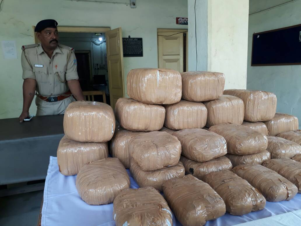 <p>Nearly,80 kgs of Ganja-Cannabis,also known as marijuana among several other names,which was being transported from Saraikela-Kharsawan to Orissa,was recovered by the police near&#8230;