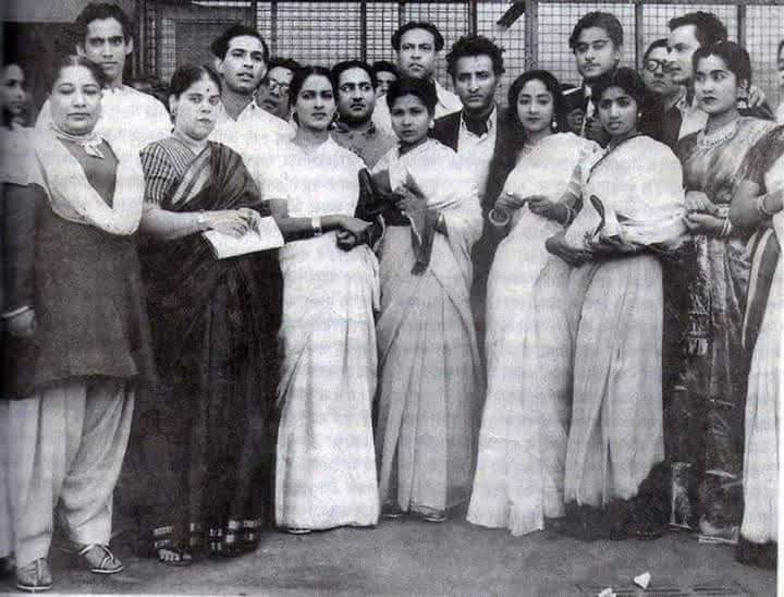 <p>A rare photo of all the singers together in the early years of their singing careers ! Can you spot (front row) Zohra Jan, Rajkumari, Amirbai Karnatki, Hamida Banu, Geeta Roy…