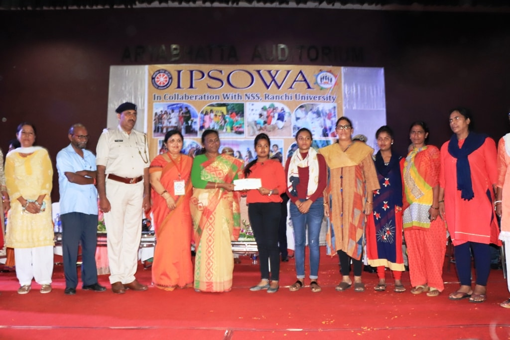 <p>Governor Draupadi Murmu during the I.P.S. Officer's Wives Association's 'Saraswati Stipend' programme in Ranchi on dated 30-08-2018.</p>