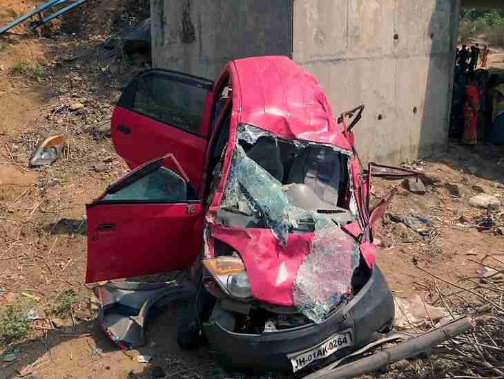 <p>By hitting a bike,the car fell 15-feet below a bridge resulting in death of three persons.The deceased include two car and one bike ridden persons in Choparan police…
