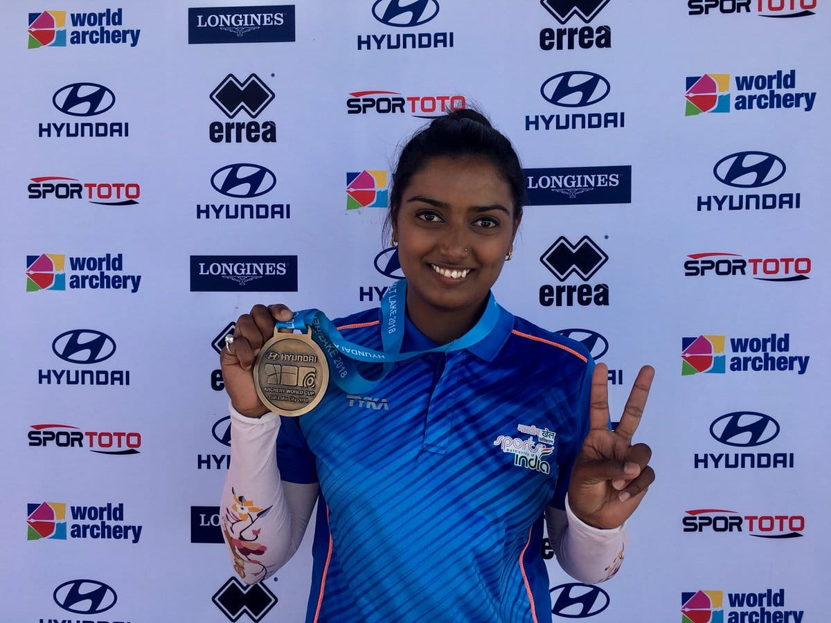<p>Archer Deepika Kumari wins gold in World Archery Tournament in USA.</p>