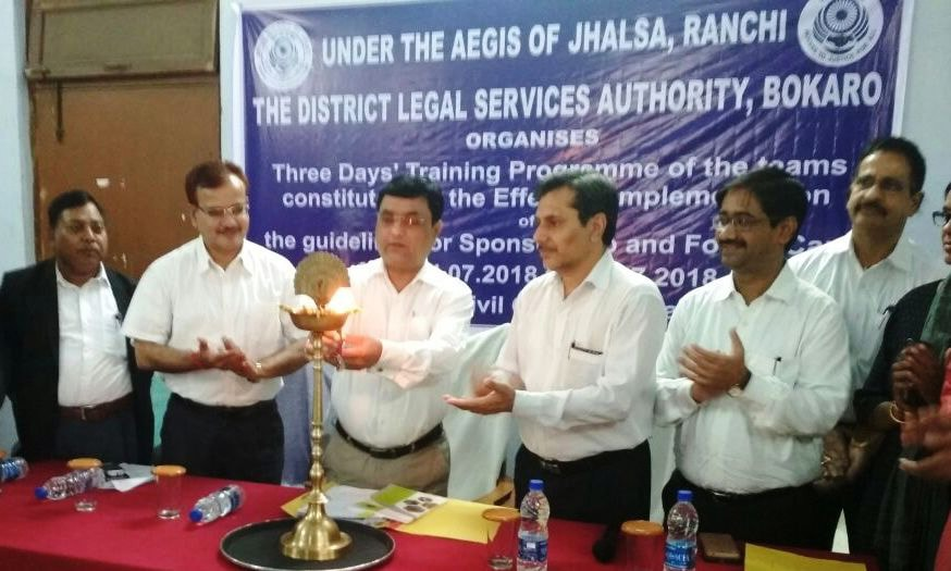 <p>Judicial commissioner Navneet Kumar addresses a gathering during the inaugural ceremony of Three days Training programme of Team Member for effective implementation of Jharkhand…