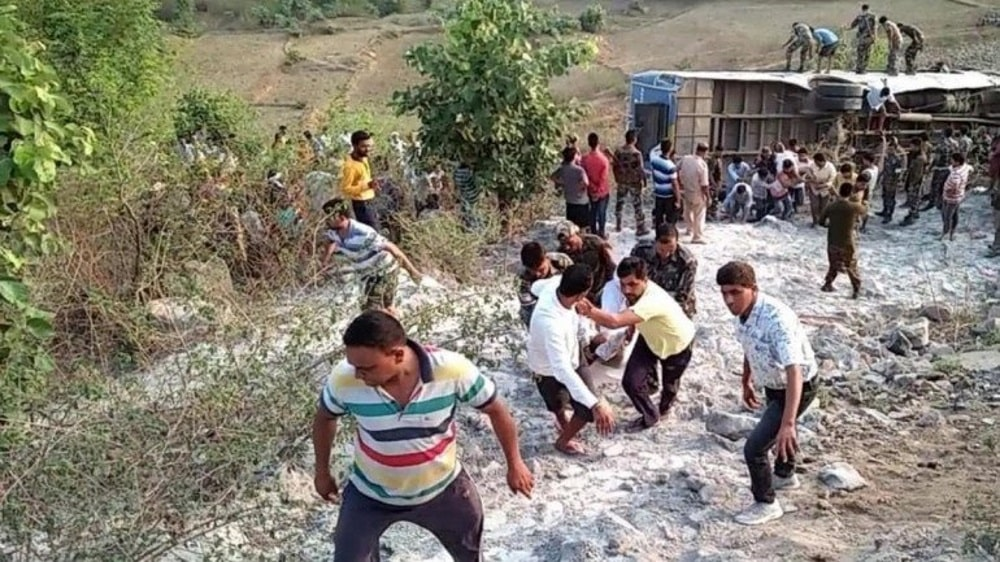 <p>At least 39people were killed and 43 injured after a bus skidded off the road and fell into a gorge in Anuraj Ghati in Garhwa district of Jharkhand on Tuesday.</p> <p>The…