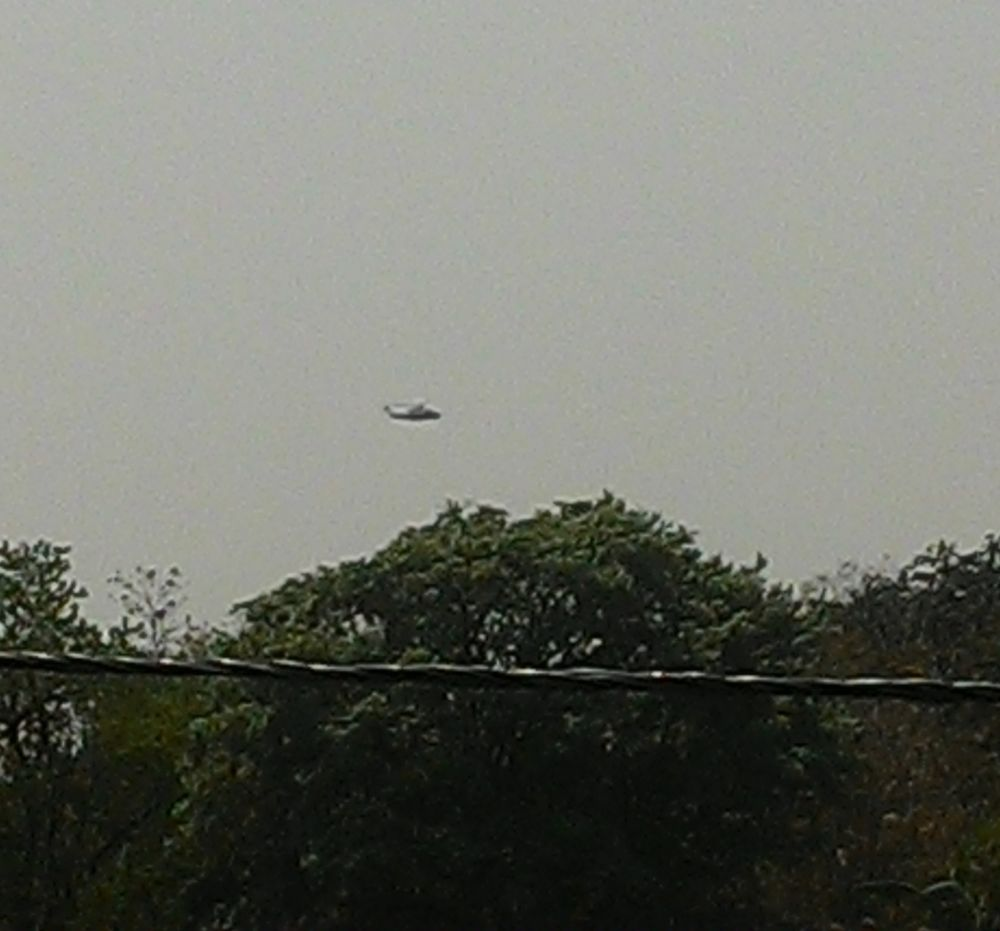 <p>A helicopter carrying Khunti Lok Sabha candidate Arjun Munda lands at Birsa College helipad. Arjun Munda is slated to file his nominaton papers later today.</p>
