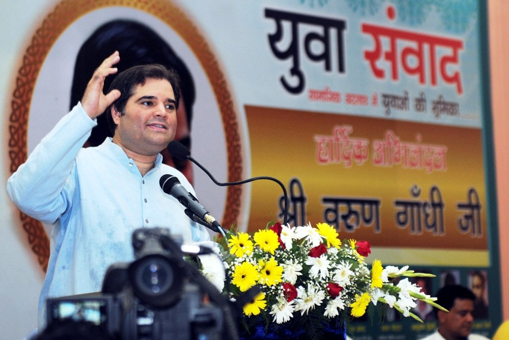 <p>Bharatiya Janta Party (BJP) MP Varun Gandhi delivered his speech during &quot;Yuva Samvad&quot; in Ranchi on Wednesday.</p>