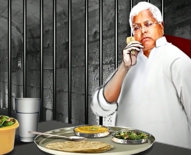 Lalu consumes self cooked vegetarian food inside jail