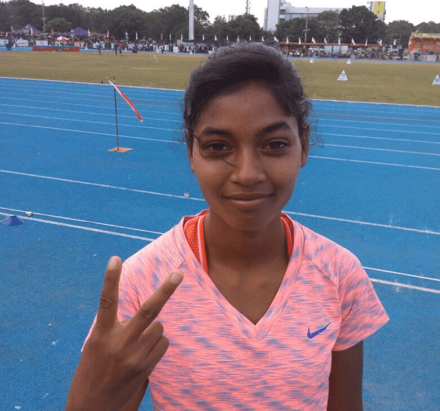 priyanka-kerketta-bags-bronze-in-national-junior-athletic-championship