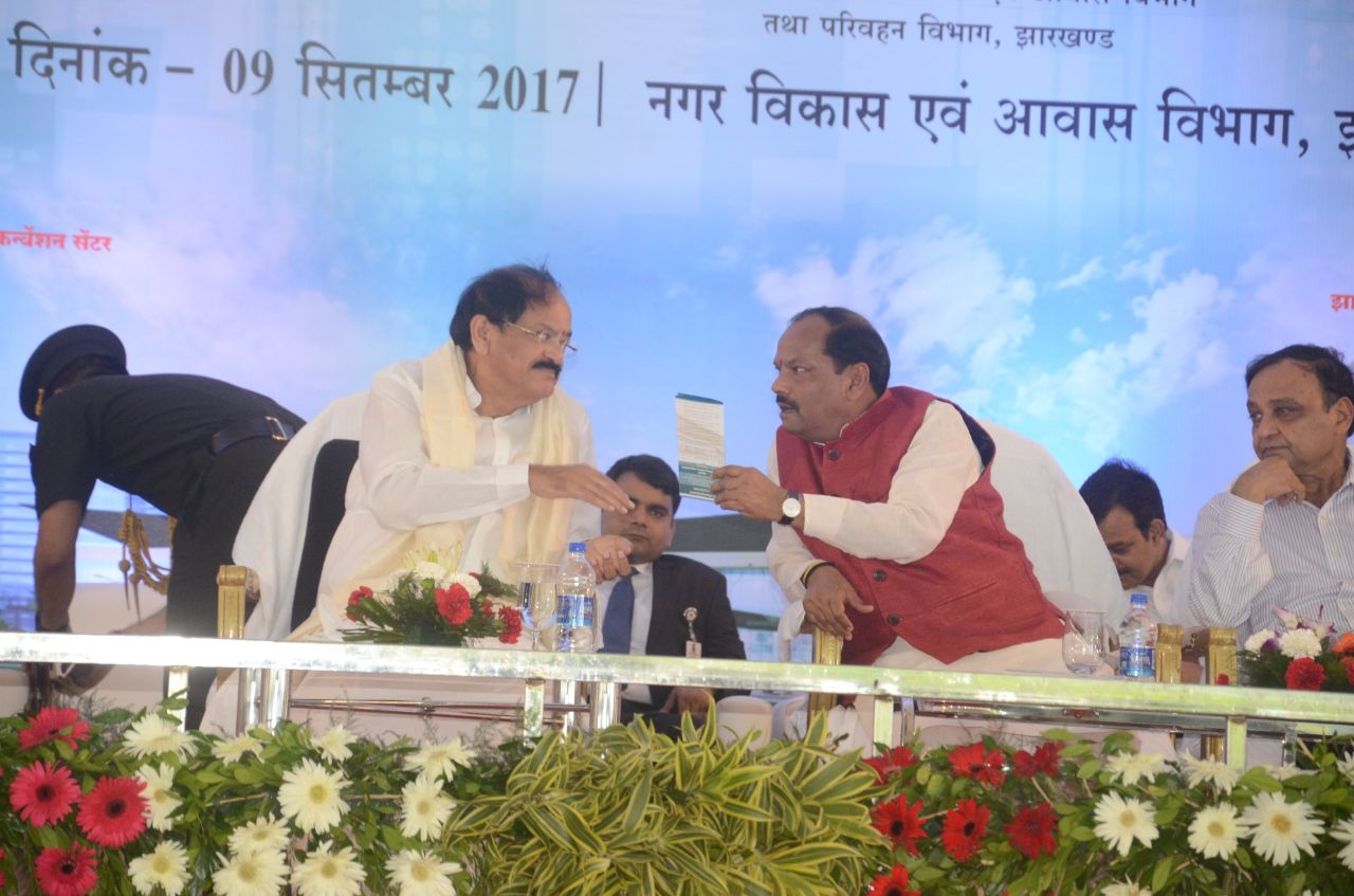 Naidu lays Smart City foundation stone,Ranchi citizens limp & crib
