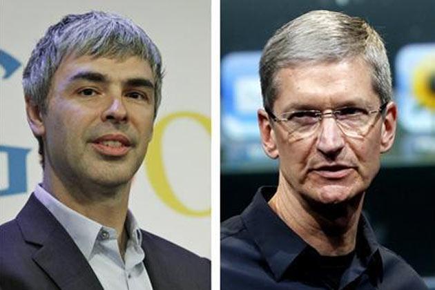 Google,Apple CEOs hold secret patent talks